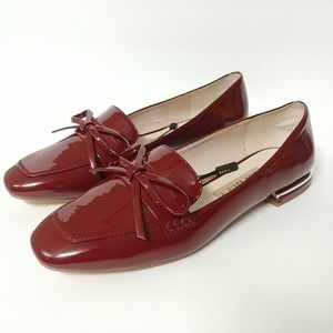 Zara Women's Size 38 Faux Patent Leather Loafers